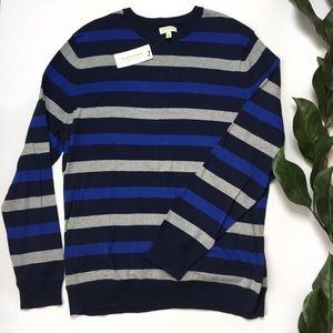 NWT Sonoma Lifestyle Lightweight Striped Sweater